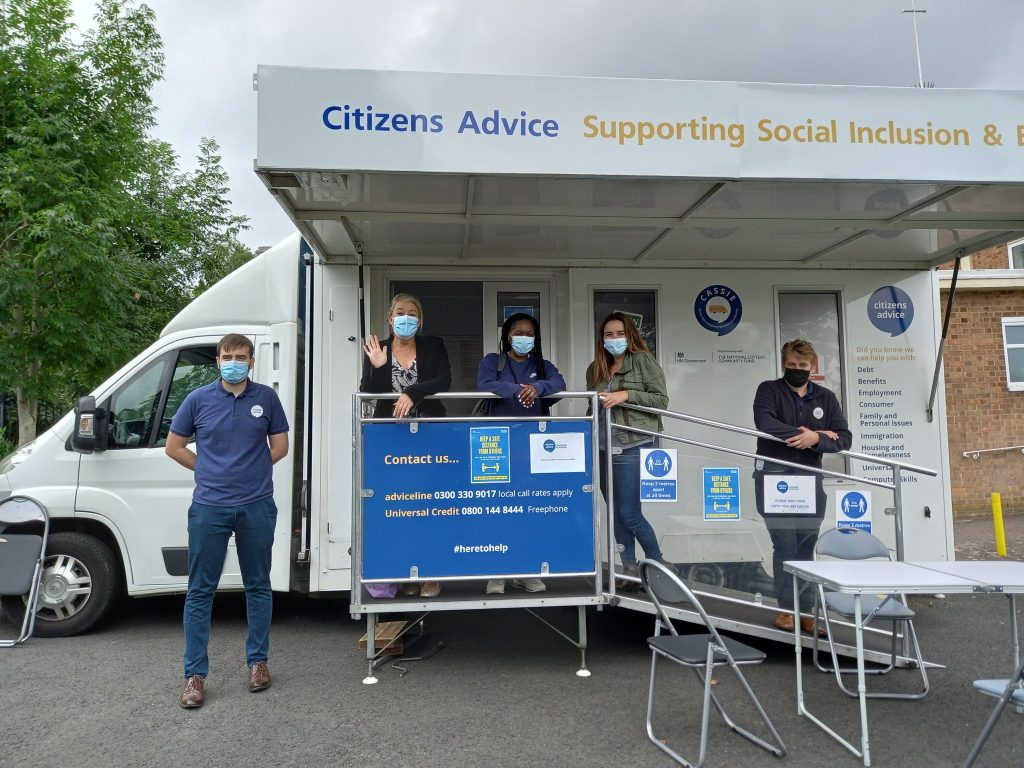 CASSIE mobile advice unit out and about